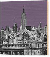 The Empire State Building Plum Wood Print by John Farnan