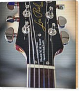 The Epiphone Les Paul Guitar Wood Print by David Patterson