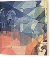 The Event 1965 Wood Print by Glenn Bautista
