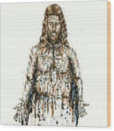 The Faces Of  Body Of Jesus Christ Wood Print by Thomas Lentz
