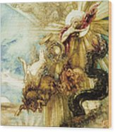 The Fall Of Phaethon Wood Print by Gustave Moreau