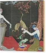 The Fashion For Lacquer Wood Print by Georges Barbier