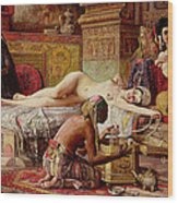 The Favorite Of The Harem Wood Print by Gyula Tornai