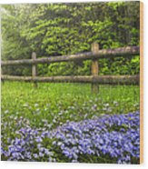 The Forest Is Calling Wood Print by Debra and Dave Vanderlaan