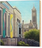 The Frist Center Wood Print by Janet King