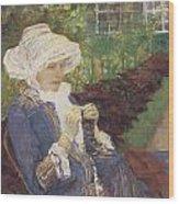 The Garden Wood Print by Mary Cassatt