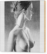 The Girl With The Glass Earring Wood Print by Joseph Ogle