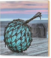 The Glass Fishing Float Wood Print by JC Findley