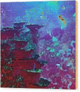 The Glimmering Deep Wood Print by Wendy J St Christopher