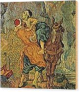 The Good Samaritan After Delacroix 1890 Wood Print by Vincent Van Gogh