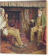 The Gossip Wood Print by Henry Spernon Tozer