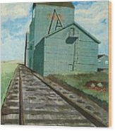 The Grain Elevator Wood Print by Anthony Dunphy