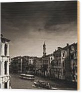 The Grand Canal Wood Print by Aaron S Bedell