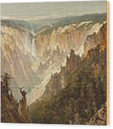 The Grand Canyon Of The Yellowstone Wood Print by Thomas Hill