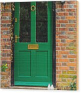 The Green Door Wood Print by Mark Llewellyn