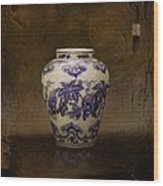 The Guan Vase Wood Print by Bruno Capolongo