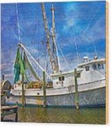 The Harbor II Wood Print by Betsy Knapp