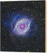 The Helix Nebula Wood Print by Adam Romanowicz
