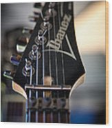 The Ibanez Guitar Wood Print by David Patterson