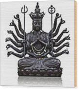 The Images Of Guanyin Black Wood Print by Tosporn Preede