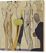 The Judgement Of Paris Wood Print by Georges Barbier