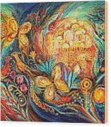 The Key Of Jerusalem Wood Print by Elena Kotliarker