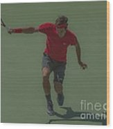 The King Of Tennis Wood Print by Terry Cosgrave