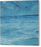 The Kite Surfers Wood Print by Conor Murphy