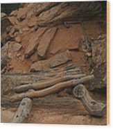 The Ladder Down Into Sapupu Canyon Wood Print by Jeff Swan