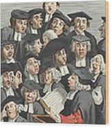 The Lecture, Illustration From Hogarth Wood Print by William Hogarth