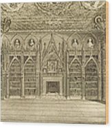 The Library, Engraved By Godfrey Wood Print by English School