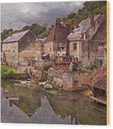 The Loir River Wood Print by Debra and Dave Vanderlaan