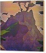 The Lone Cypress Wood Print by John Malone