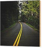 The Long And Winding Road Wood Print by Natasha Marco