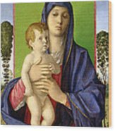 The Madonna Of The Trees Wood Print by Giovanni Bellini