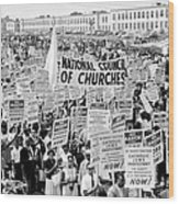 The March For Civil Rights Wood Print by Benjamin Yeager