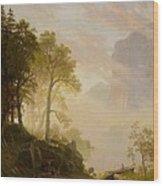 The Merced River In Yosemite Wood Print by Albert Bierstadt