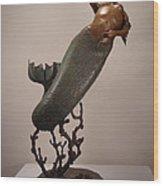 The Mermaid Wood Print by Lisbeth Sabol