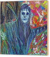 The Messenger Wood Print by Azul Fam