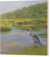 The Millway Marsh Wood Print by Karol Wyckoff