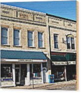 The Mitchell Buildings Wood Print by MJ Olsen