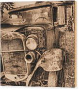 The Model A Wood Print by JC Findley