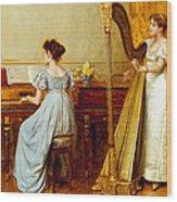 The Music Room Wood Print by George Goodwin Kilburne