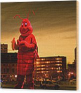 The Night Of The Lobster Man Wood Print by Bob Orsillo