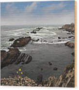 The Ocean's Call Wood Print by Laurie Search