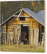 The Old Barn Wood Print by Heiko Koehrer-Wagner