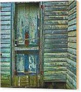 The Old Blue Door Wood Print by Julie Dant