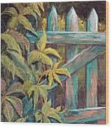 The Old Gate Wood Print by Candy Mayer