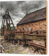 The Old Mine Wood Print by Adrian Evans