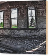The Old Schoolhouse Wood Print by Kimberleigh Ladd